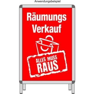 "Rahmenplakat DIN A1 ""Räumungsverkauf Alles muss Raus"""