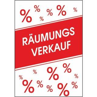 """Rahmenplakat DIN A1 """"Räumungsverkauf%"""""""