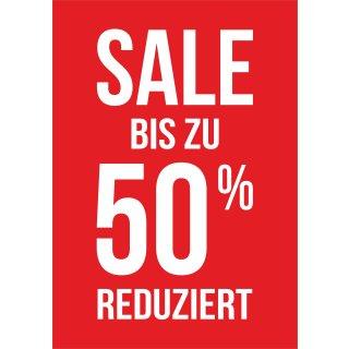 "Rahmenplakat DIN A1 ""Sale 50% Reduziert"""