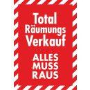 "Rahmenplakat DIN A1 ""Total Räumungsverkauf"""