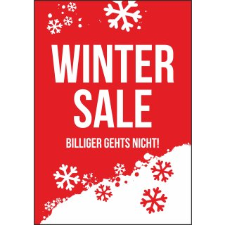 "Rahmenplakat DIN A1 ""Winter Sale"""