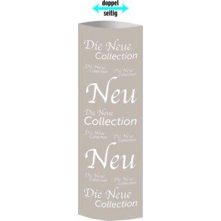"""Säulendisplay """"Die neue Collection"""" 32,5 x 93,4cm"""