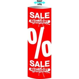 "Säulendisplay ""SALE-Reduziert-%"" 32,5 x 93,4 cm"