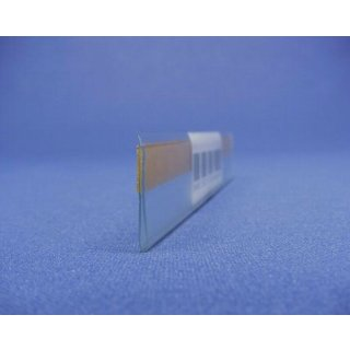 Scannerschiene transparent 23 x 1250 mm