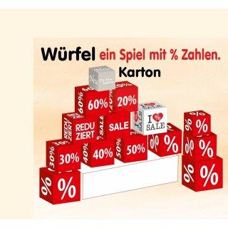 Würfel, Prozente, Reduziert, SALE, Angebot, Aktion