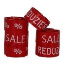 Tex-Clip® rot mit weißer Prägung - VE25
