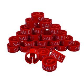 Tex-Clip® rot mit weißer Prägung SALE - VE25