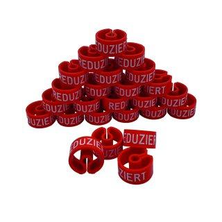 Tex-Clip® rot mit weißer Prägung Reduziert - VE25