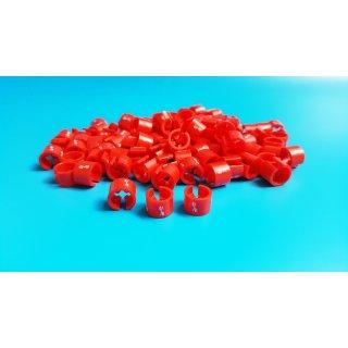 Minireiter rot mit weißer Prägung - VE100