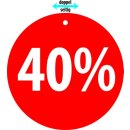 "Hänger ""40%"""