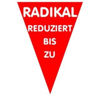 """Ankleber """"Radikal reduziert"""""""