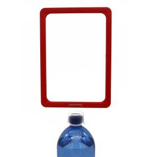 Plakatrahmen Set DIN A4 mit PET-Flaschen-Aufsatz