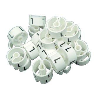 Tex-Clip® weiß mit schwarzer Prägung Gr. L - VE25