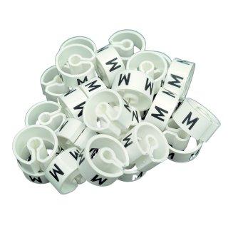 Tex-Clip® weiß mit schwarzer Prägung Gr. M - VE25