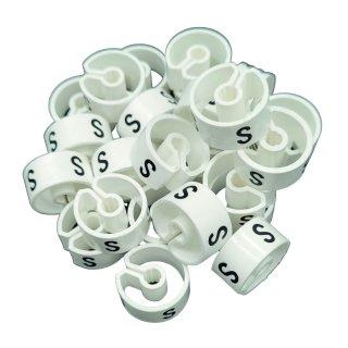 Tex-Clip® weiß mit schwarzer Prägung Gr. S - VE25