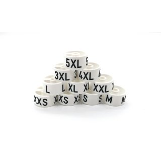 Tex-Clip® weiß mit schwarzer Prägung Gr. 19 - VE25