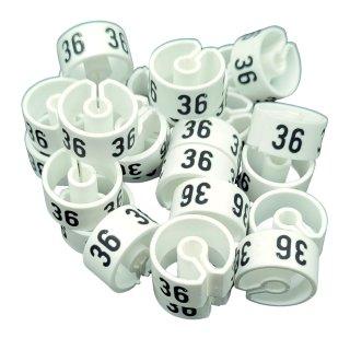 Tex-Clip® weiß mit schwarzer Prägung Gr. 36 - VE25