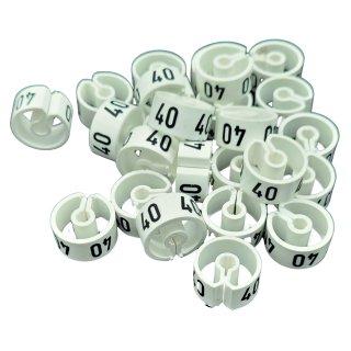 Tex-Clip® weiß mit schwarzer Prägung Gr. 40 - VE25