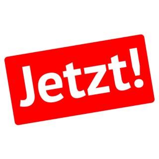 "Ankleber ""Jetzt"" 43 x 22 cm"