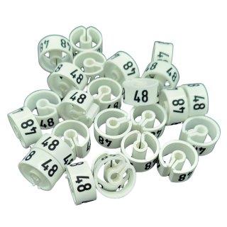 Tex-Clip® weiß mit schwarzer Prägung Gr. 48 - VE25
