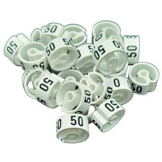 Tex-Clip® weiß mit schwarzer Prägung Gr. 50 - VE25