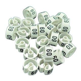 Tex-Clip® weiß mit schwarzer Prägung Gr. 60 - VE25