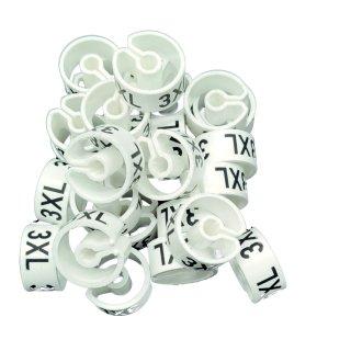 Tex-Clip® weiß mit schwarzer Prägung Gr. 3XL - VE25