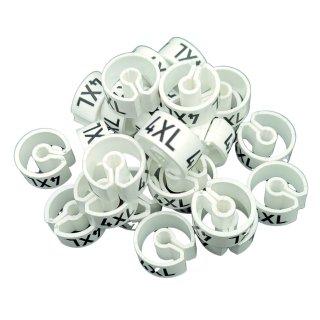 Tex-Clip® weiß mit schwarzer Prägung Gr. 4XL - VE25