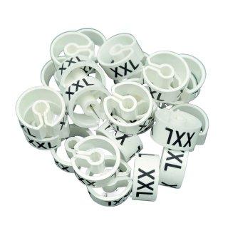 Tex-Clip® weiß mit schwarzer Prägung Gr. XXL - VE25