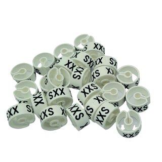 Tex-Clip® weiß mit schwarzer Prägung Gr. XXS - VE25