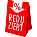 "Dachaufsteller ""Reduziert-%-Pfeil"" DIN A3"