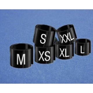 Minireiter schwarz mit weißer Prägung Gr. L - VE100