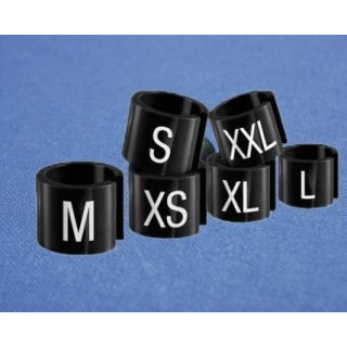 Minireiter schwarz mit weißer Prägung Gr. 170 - VE100