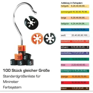 Minireiter Farbsystem Gr.  40 - weiß - VE100